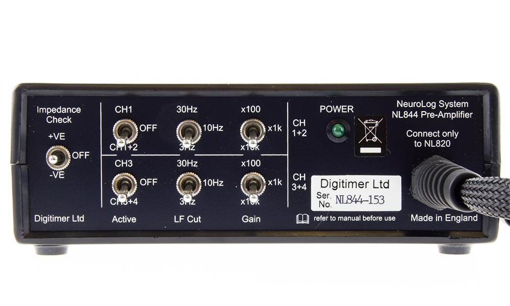 NL844 4Ch AC Pre Amplifier Digitimer 03
