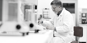 scientist using medical devices from Digitimer