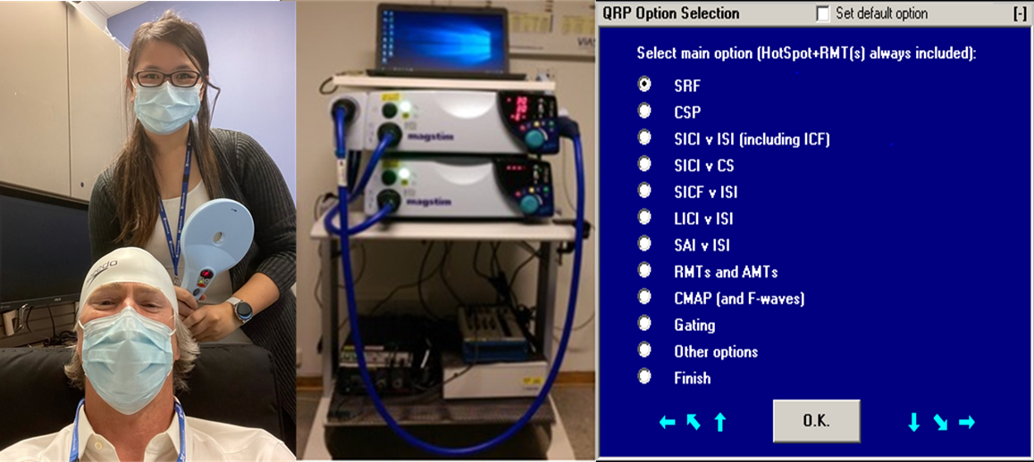 QTMS researchers equipment and screenshot