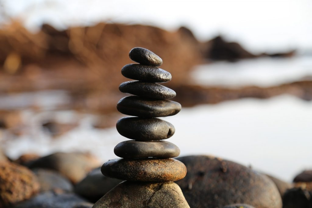 rocks balanced in a stack
