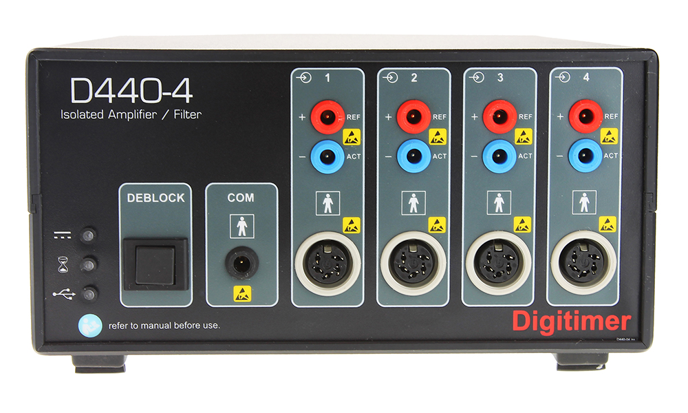 D440 2 or 4 Channel Isolated Amplifier 02 Digitimer